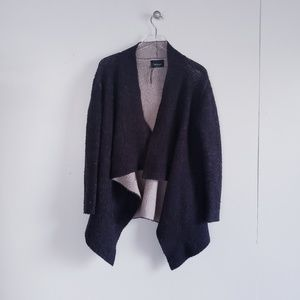 ZARA KNIT Two Tone Waterfall Cardigan Size Medium